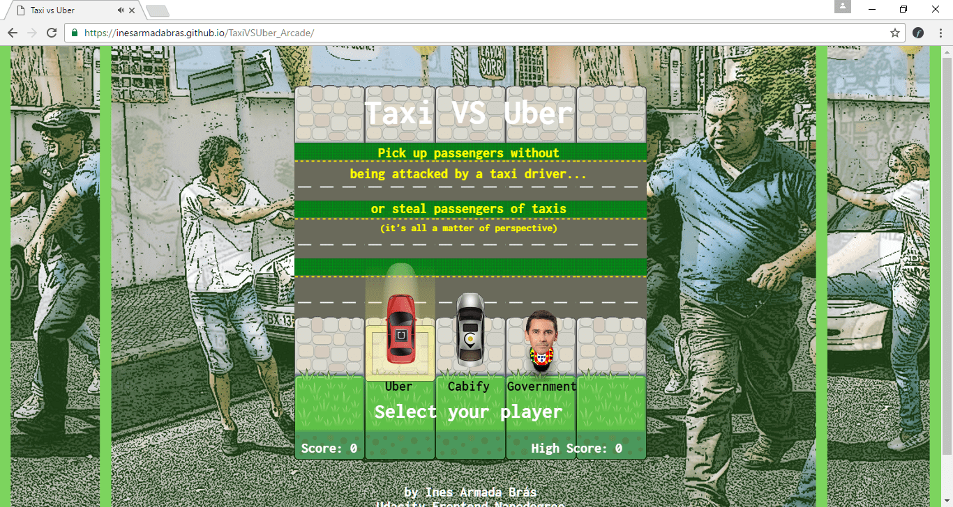 Taxi vs Uber Game